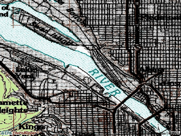 Zip code 97227 topographic map