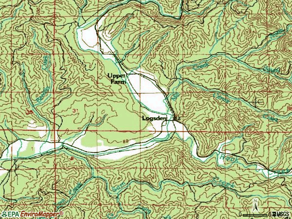 Zip code 97357 topographic map