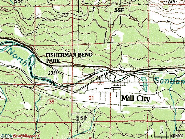 Zip code 97360 topographic map