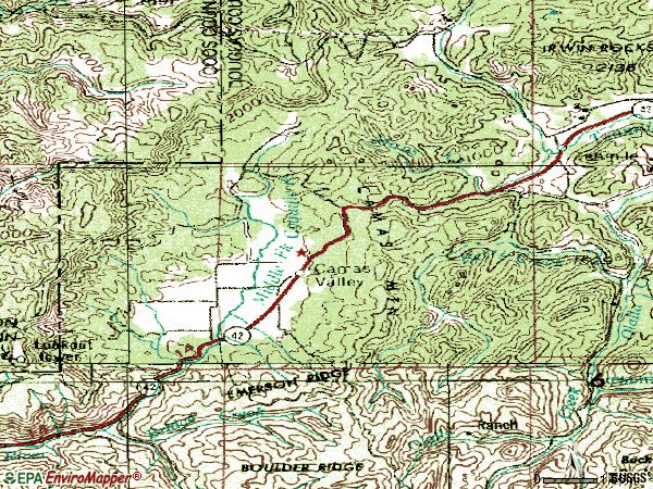 Zip code 97416 topographic map