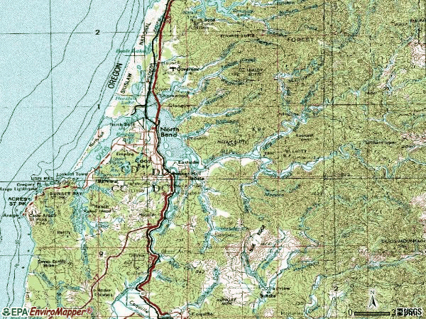 Zip code 97420 topographic map