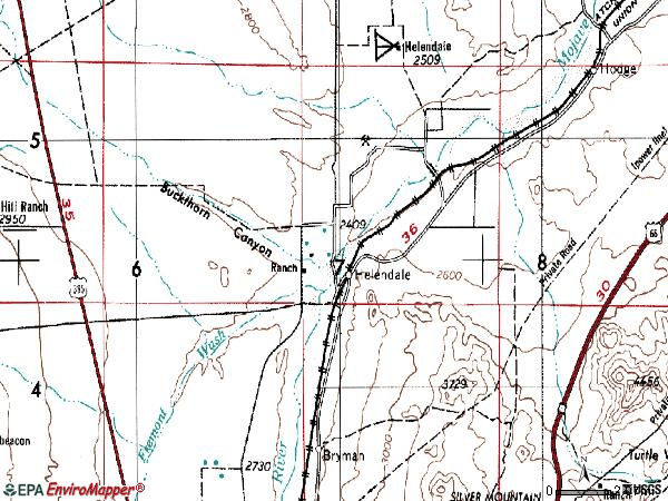 Zip code 92342 topographic map