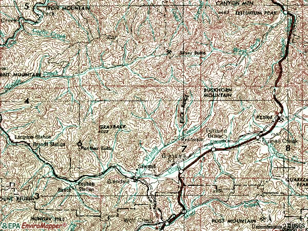 Zip code 97442 topographic map