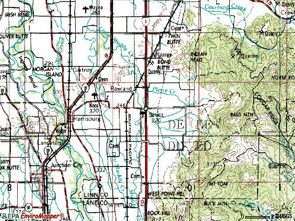 Zip code 97446 topographic map
