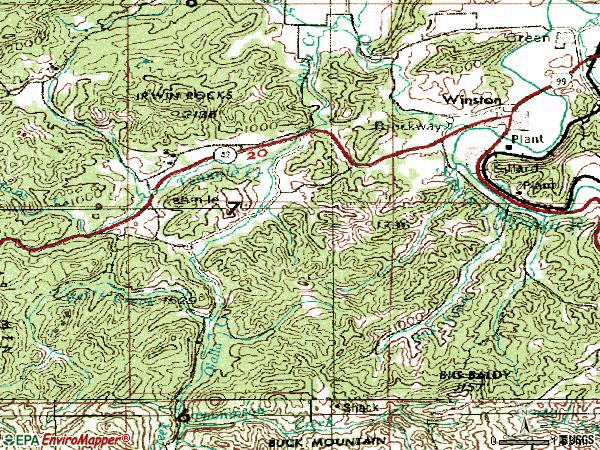 Zip code 97496 topographic map
