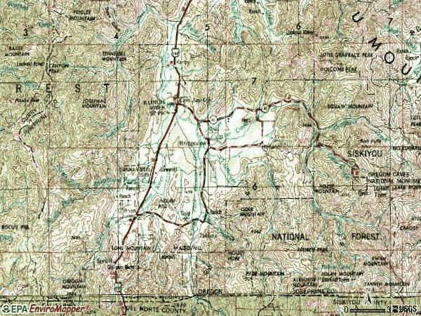 Zip code 97523 topographic map