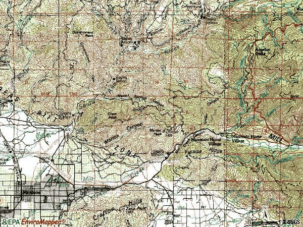 Zip code 92359 topographic map