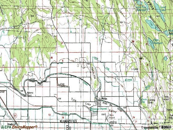 Zip code 97632 topographic map
