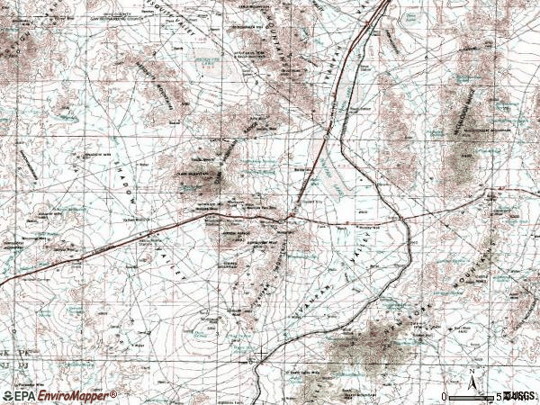 Zip code 92364 topographic map