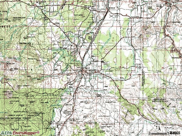 Zip code 97701 topographic map