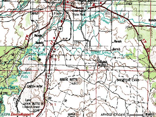 Zip code 97702 topographic map