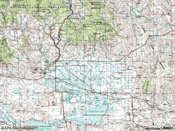 Zip code 97720 topographic map