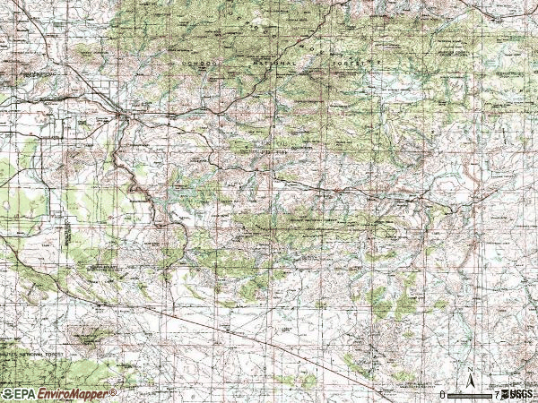 Zip code 97754 topographic map