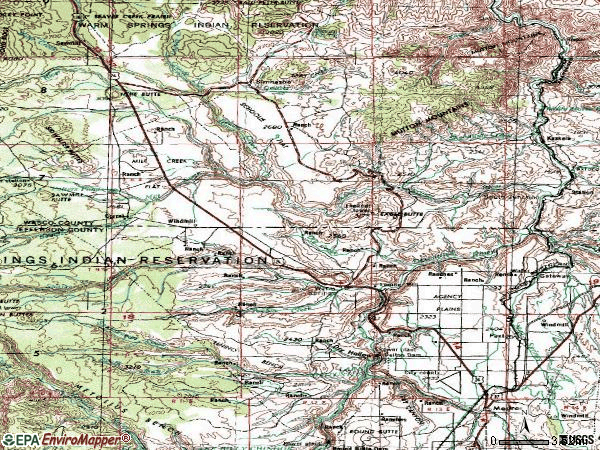 Zip code 97761 topographic map