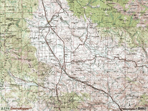 Zip code 97814 topographic map