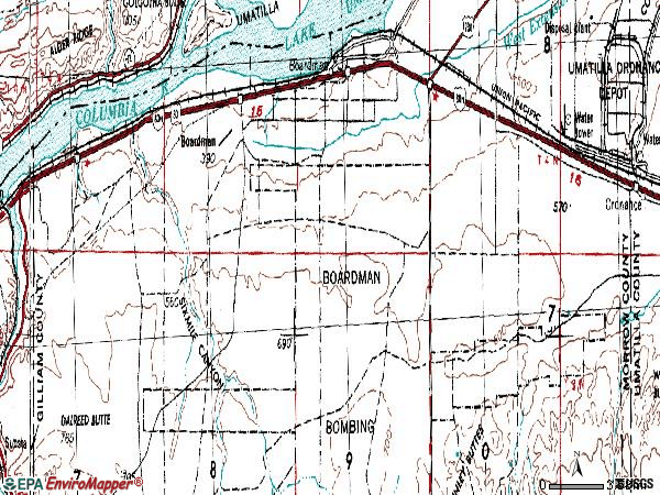 Zip code 97818 topographic map