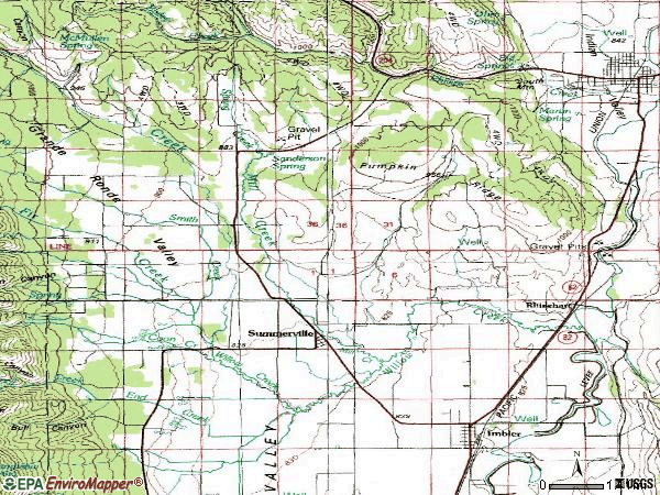 Zip code 97876 topographic map