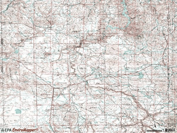Zip code 97909 topographic map