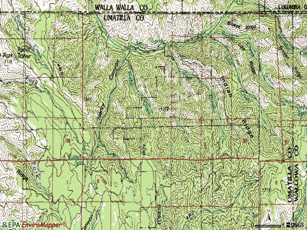 Zip code 99362 topographic map