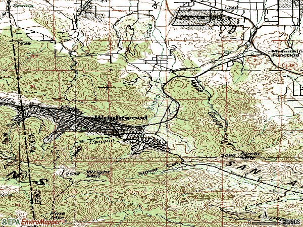 Zip code 92397 topographic map