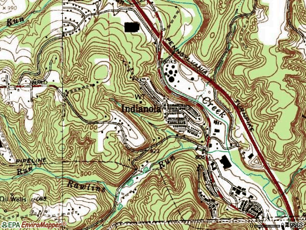 Zip code 15051 topographic map