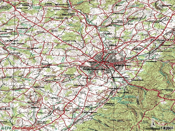 Zip code 15401 topographic map