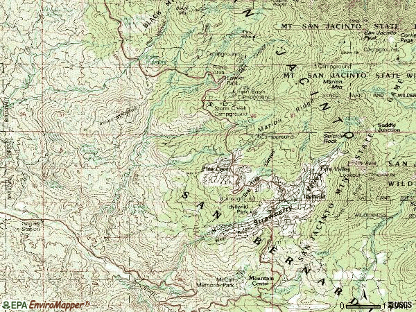 Zip code 92549 topographic map