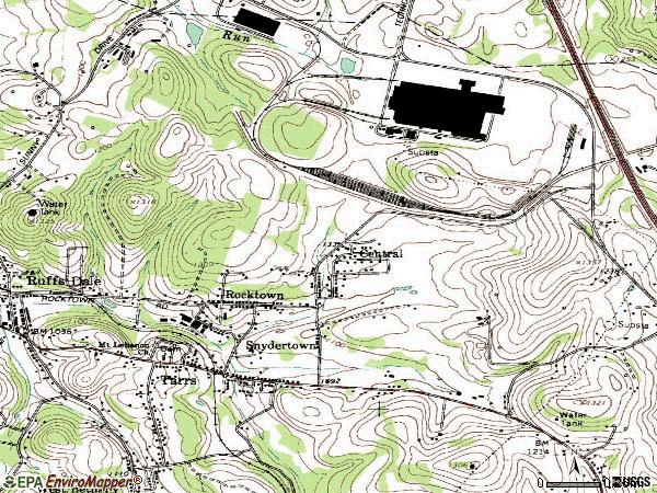 Zip code 15688 topographic map