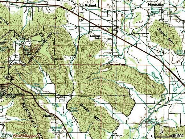 Zip code 35741 topographic map