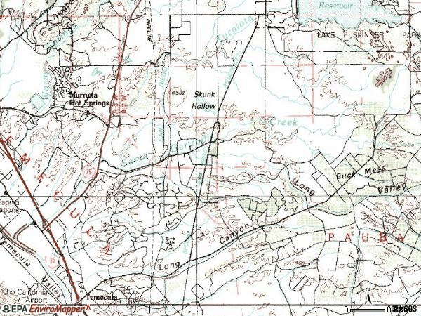 Zip code 92591 topographic map