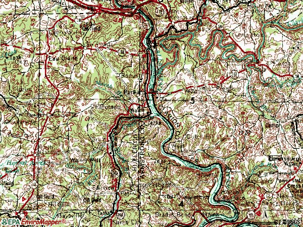 Zip code 16049 topographic map