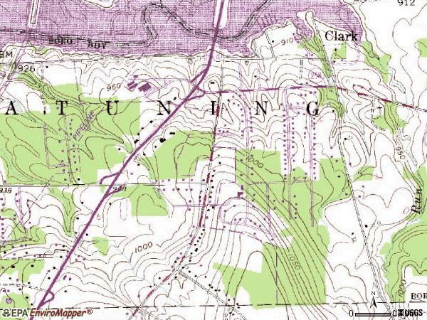 Zip code 16113 topographic map