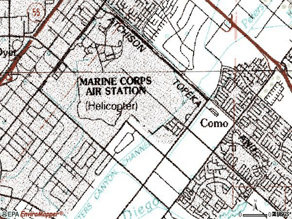 Zip code 92606 topographic map