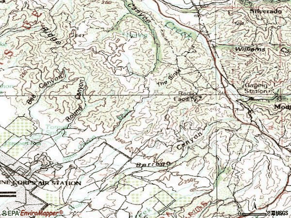 Zip code 92610 topographic map