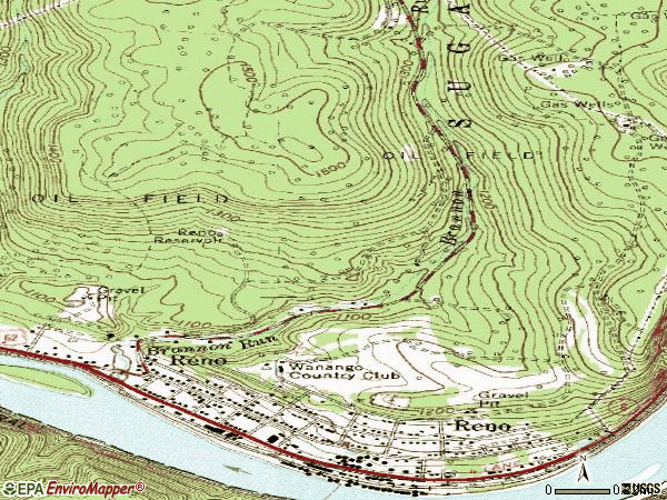 Zip code 16343 topographic map