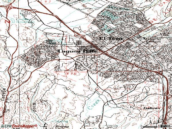 Zip code 92653 topographic map