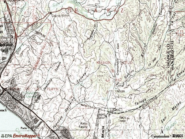 Zip code 92673 topographic map