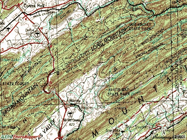 Zip code 17063 topographic map