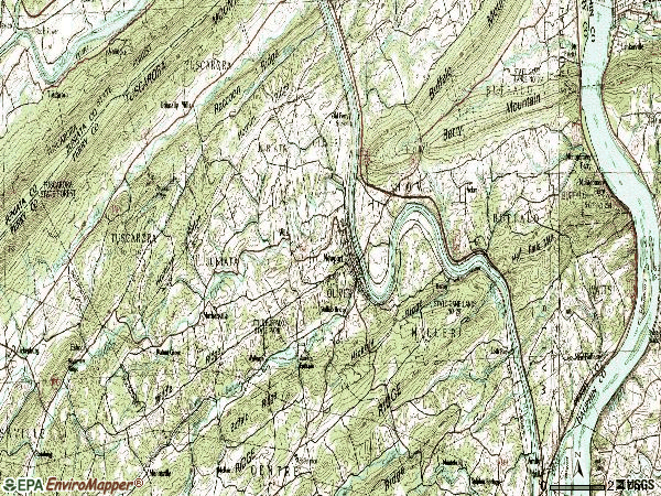 Zip code 17074 topographic map