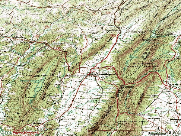 Zip code 17233 topographic map