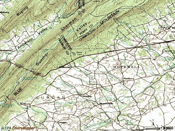 Zip code 17240 topographic map