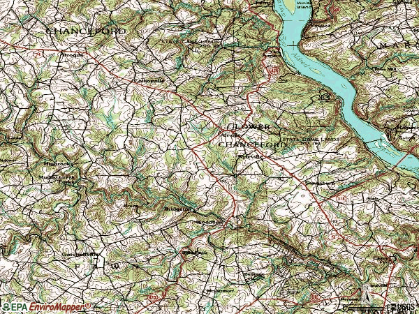 Zip code 17302 topographic map
