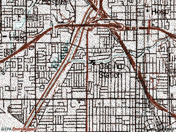 Zip code 92706 topographic map