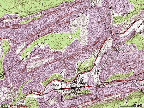 Zip code 17935 topographic map