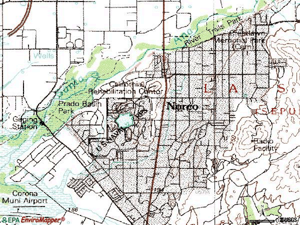Zip code 92860 topographic map