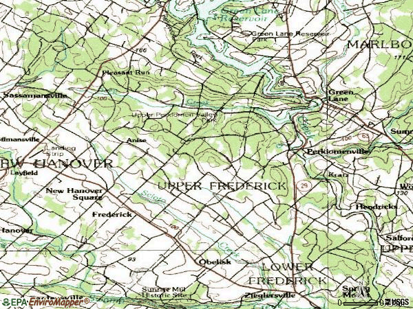 Zip code 18074 topographic map
