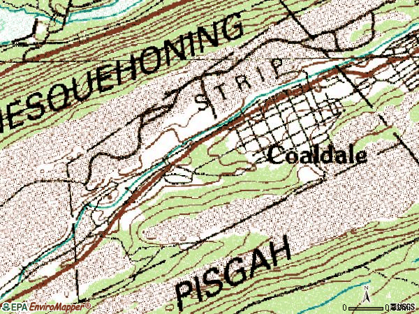 Zip code 18218 topographic map
