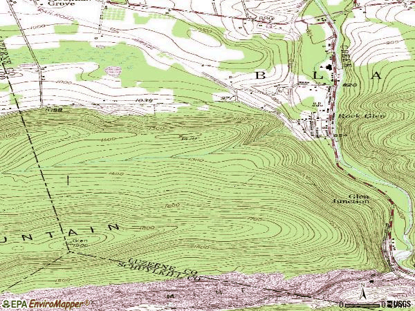 Zip code 18246 topographic map