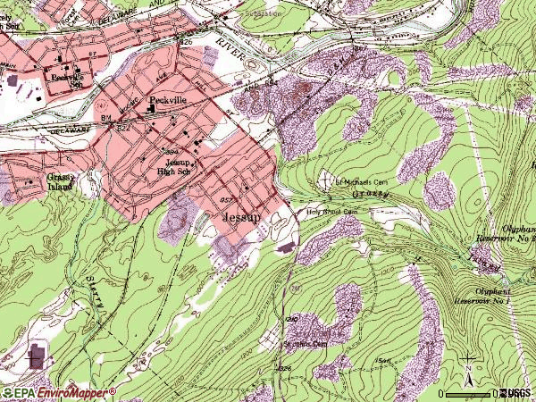 Zip code 18434 topographic map