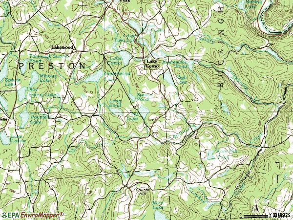 Zip code 18439 topographic map